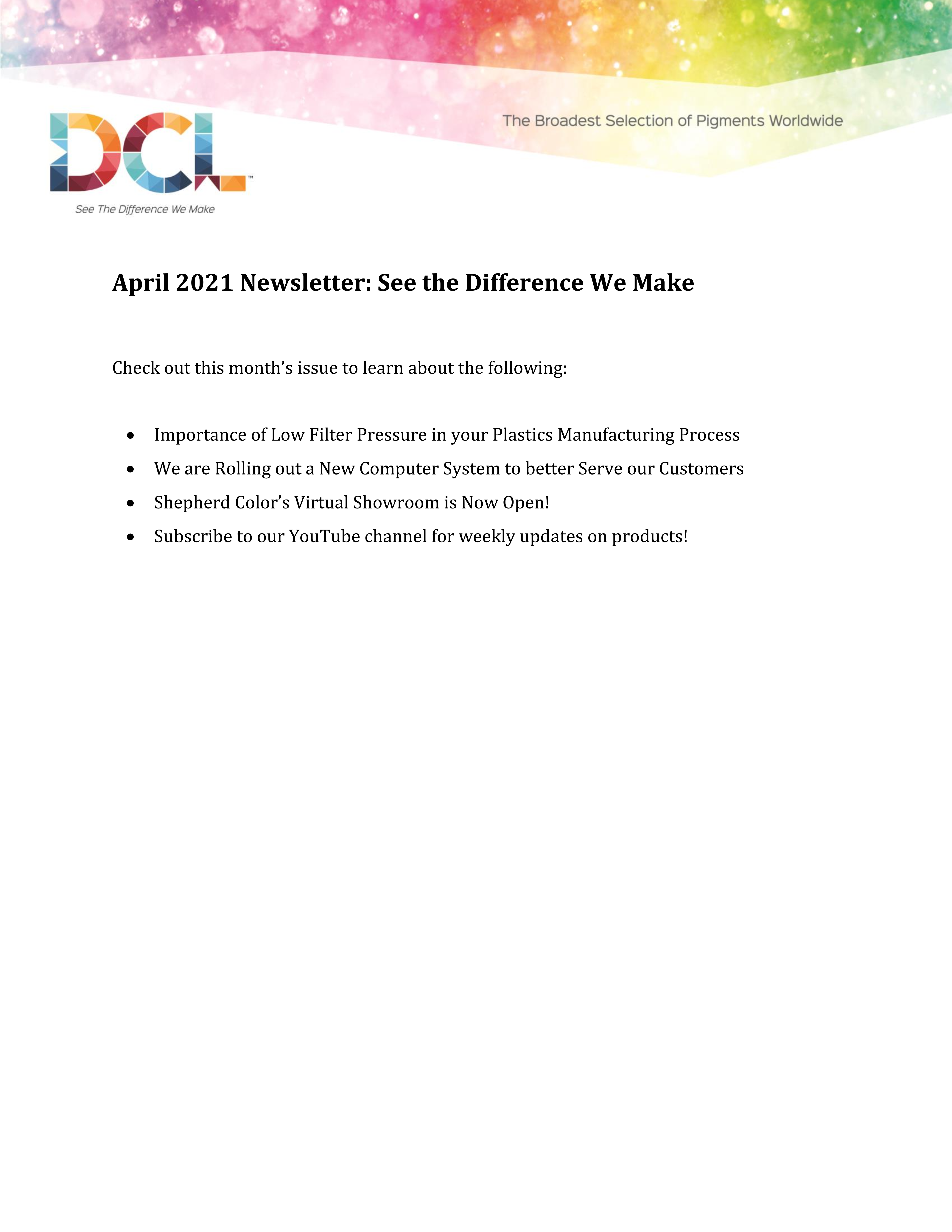 Your April Newsletter is Now Available!