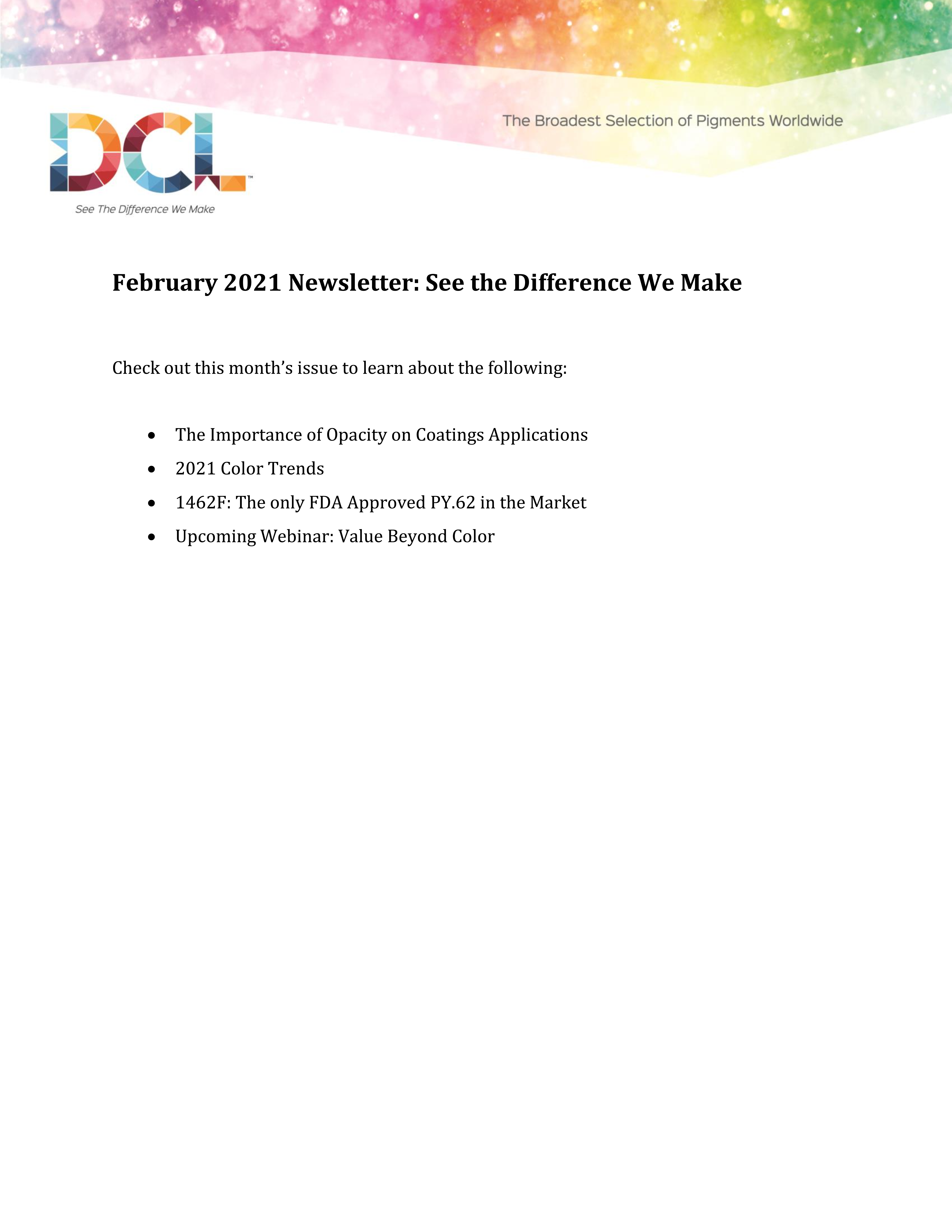 Your February Newsletter is Now Available!