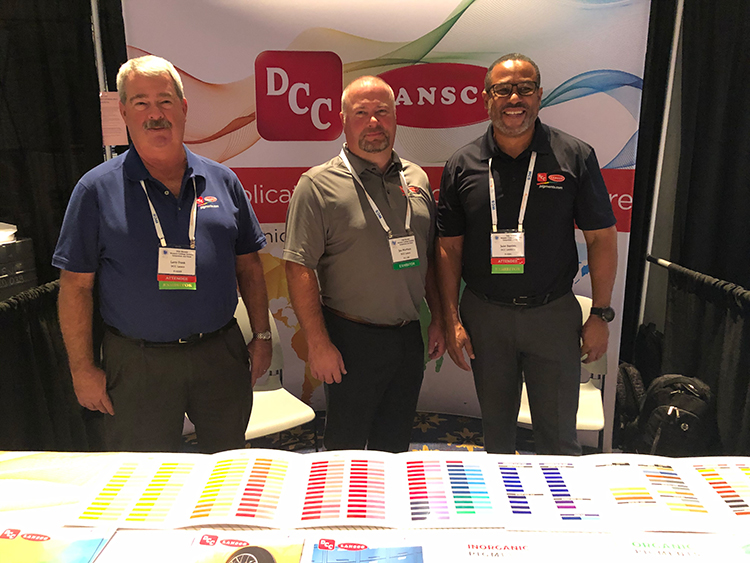 DCC LANSCO Representatives, Larry Frank, Jon Morrison and Jadel Baptista, were at the recent show!